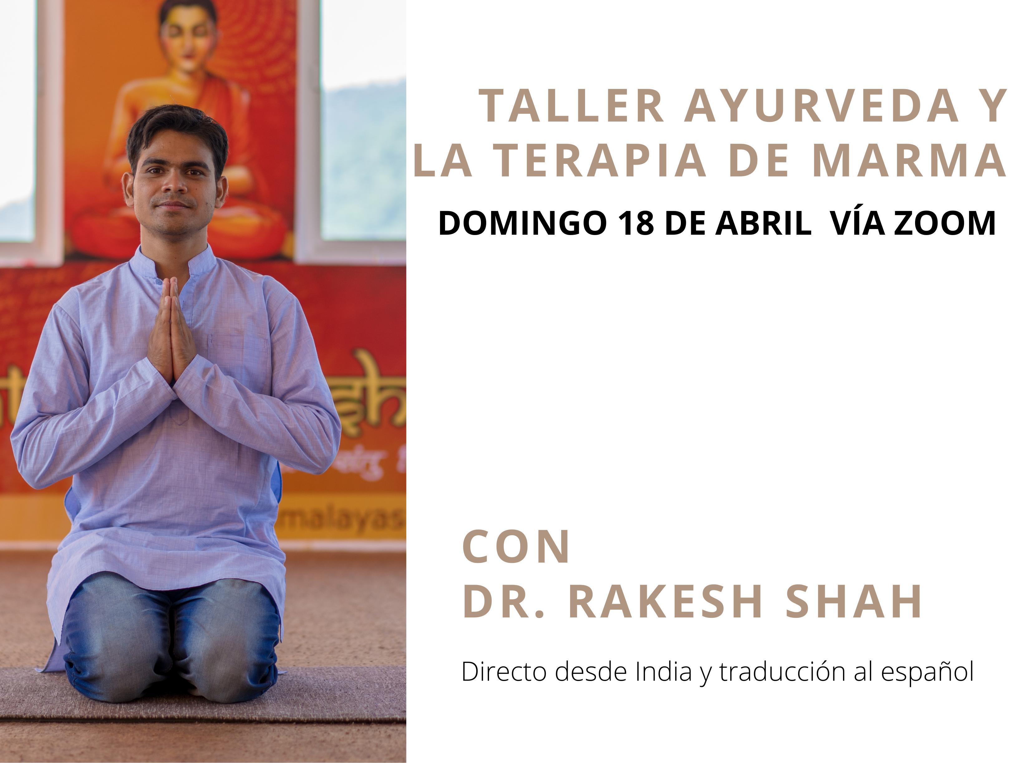 Workshop 18 abril ayurveda terapia de marma